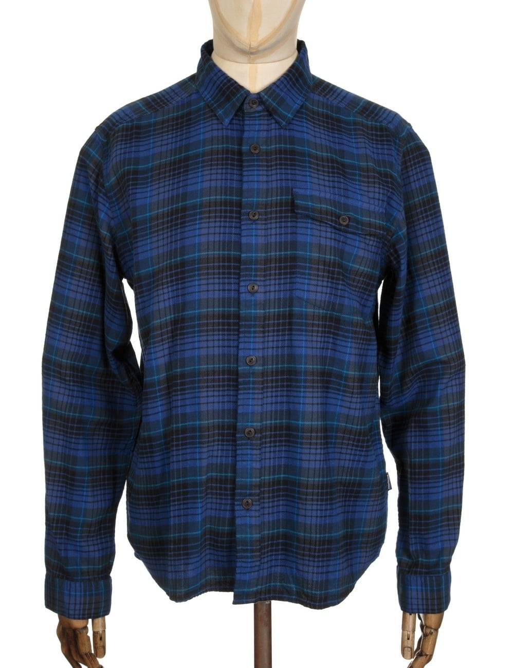 Patagonia Fjord Flannel Mens Shirt Long Sleeve Navy Blue All Sizes