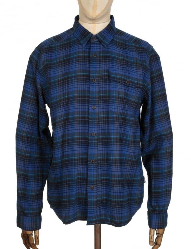 Patagonia L/S LW Fjord Flannel Shirt - Navigate: Navy Blue