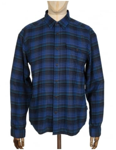 Patagonia L/S LW Fjord Flannel Shirt - Navigate: Navy Blue