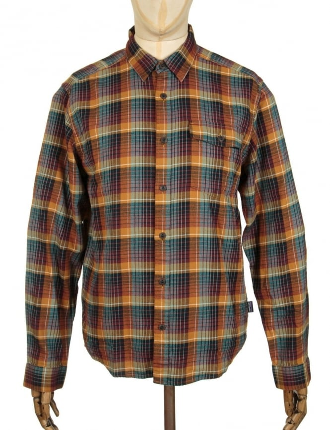 Patagonia L/S LW Fjord Flannel Shirt - Navigate: Tapenade
