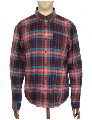 L/S LW Fjord Flannel Shirt - Rootsy: Cinder Red