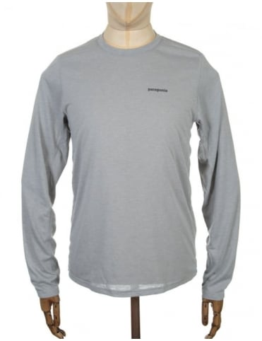 Patagonia L/S Nine Trails T-shirt - Drifter Grey