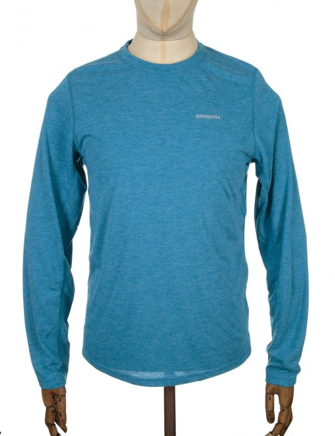 Patagonia L/S Nine Trails T-shirt - Underwater Blue