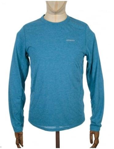 Patagonia L/S Nine Trails T-shirt - Underwater Blue