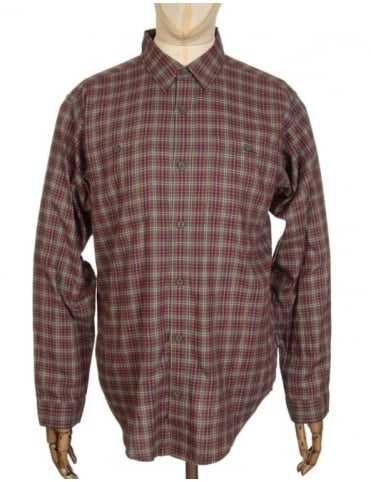 Patagonia L/S Pima Shirt - Leaf Lines: Industrial Green