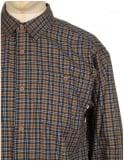 Patagonia L/S Pima Shirt - Leaf Lines: Navy Blue