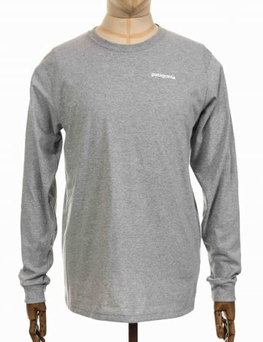 L/S Text Logo T-shirt - Drifter Grey