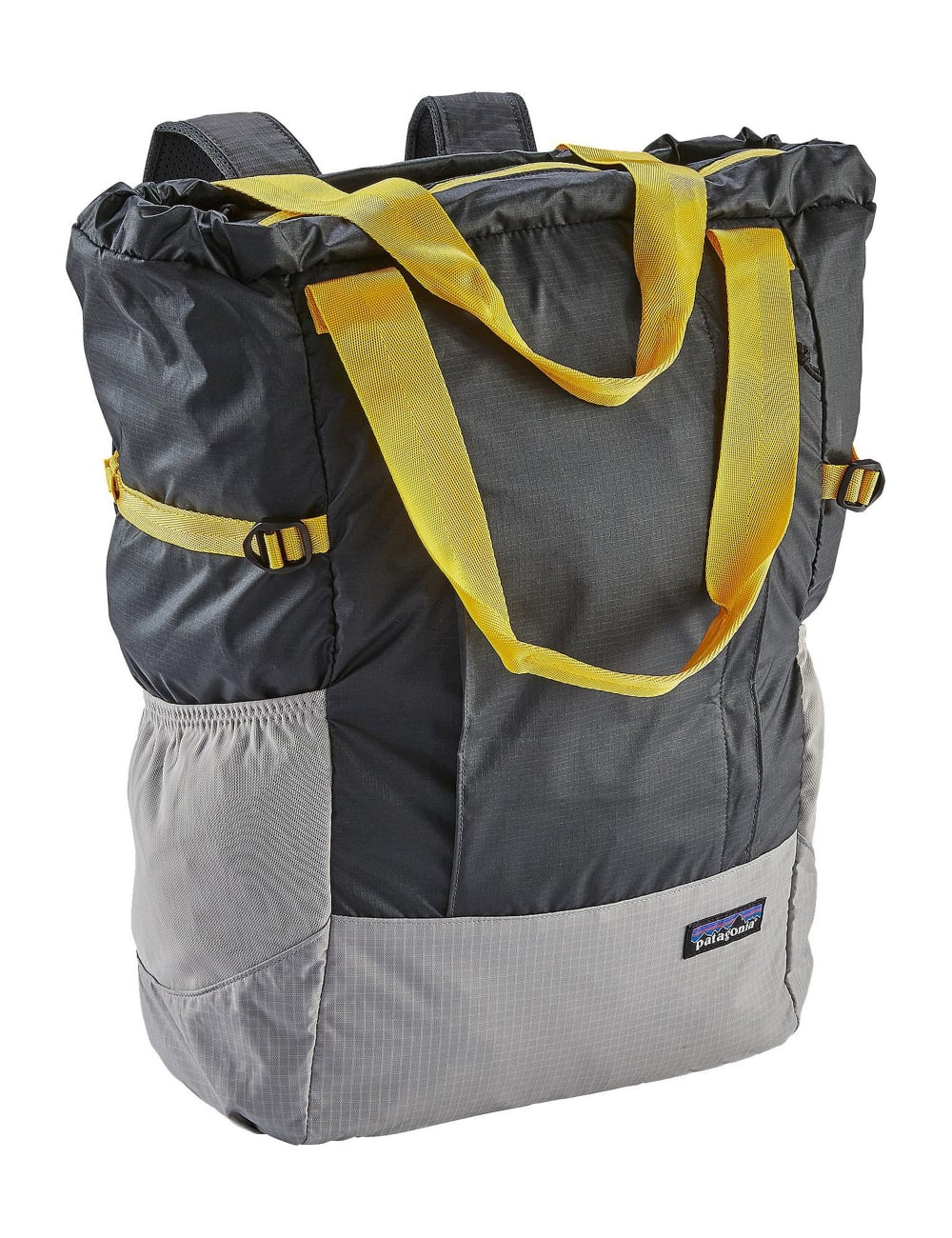 Patagonia Lightweight Travel Tote Bag - Forge Grey Chromatic Yellow ... 7524c9bdbdd5d