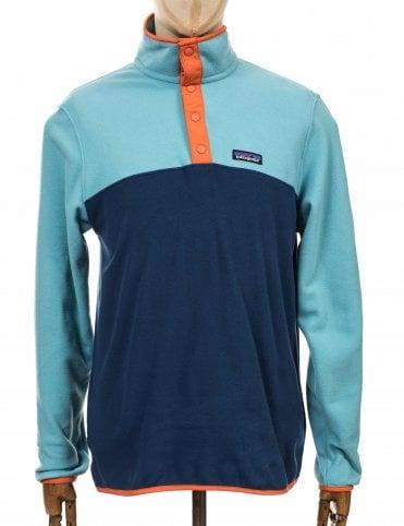1e3e3484d Patagonia Micro D Snap-T Fleece Pullover - Stone Blue w/Dam Blue