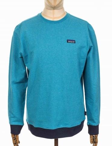 Patagonia P-6 Label Midweight Crew Sweatshirt - Filter Blue