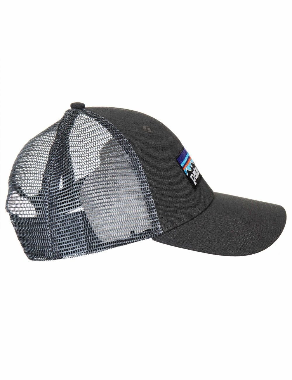 049a95a4 Patagonia P-6 Logo LoPro Trucker Hat - Forge Grey w/Forge Grey ...