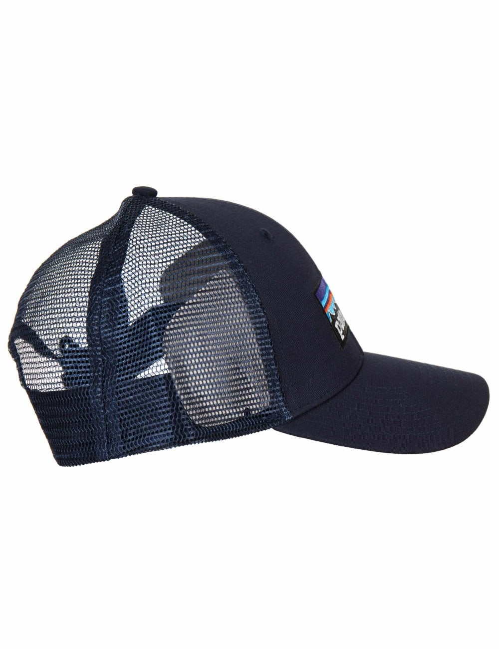 23b636ff9ac Patagonia P-6 Logo LoPro Trucker Hat - Navy Blue w Navy Blue ...