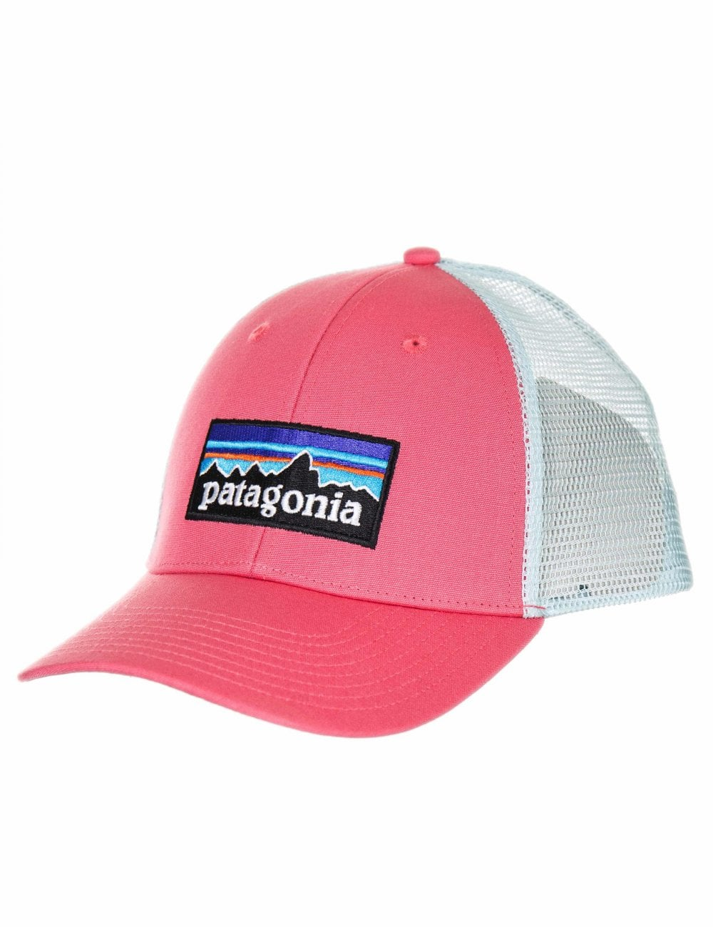 fc737a3e Patagonia P-6 Logo LoPro Trucker Hat - Sticker Pink - Accessories ...