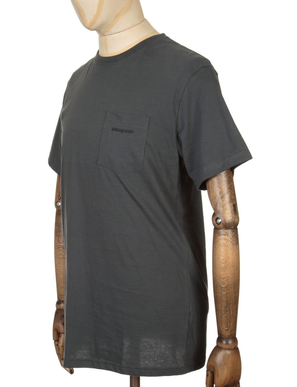 efc826e1 Patagonia P-6 Logo Pocket T-shirt - Forge Grey - Clothing from Fat ...