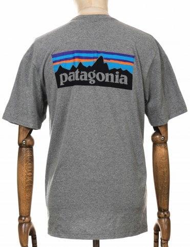 011a514f Patagonia P-6 Logo Responsibili Tee - Gravel Heather