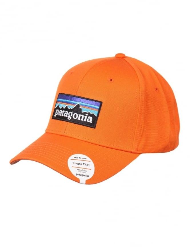 Patagonia P-6 Logo Roger That Hat - Campfire Orange