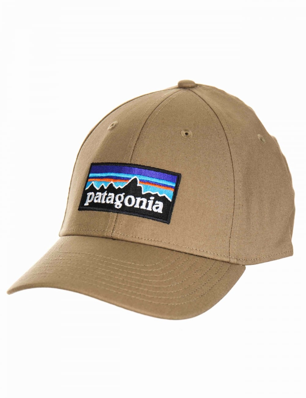ad299622699 Patagonia P-6 Logo Stretch Fit Hat - Ash Tan - Hat Shop from Fat ...