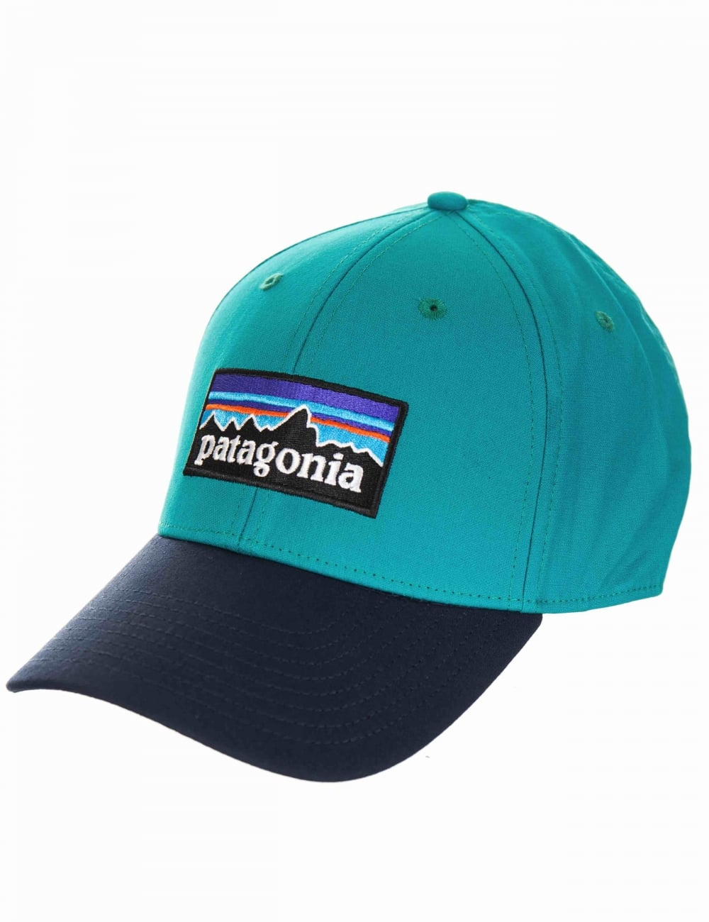 Patagonia P-6 Logo Stretch Fit Hat - True Teal - Accessories from ... 779f407af8a