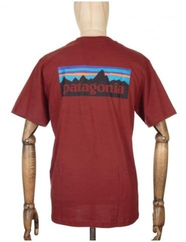 Patagonia P-6 Logo T-shirt - Cinder Red
