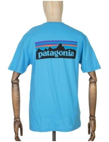 Patagonia P-6 Logo T-shirt - Skipper Blue