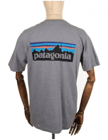 Patagonia P-6 Logo Tee - Gravel Heather