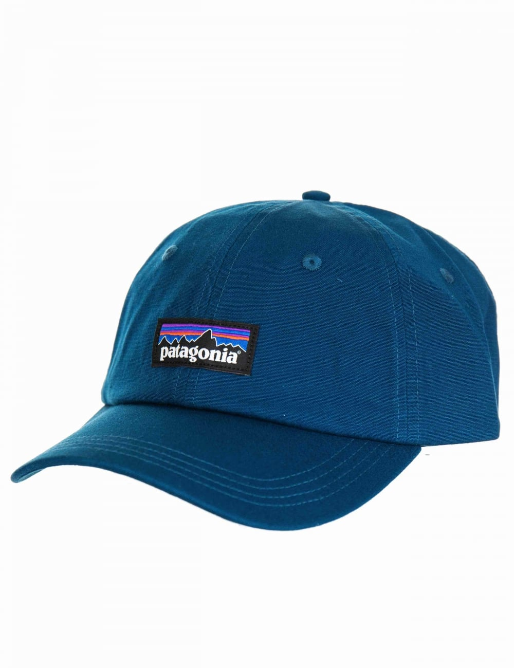 Patagonia P-6 Logo Trad Cap - Big Sur Blue - Accessories from Fat ... 2eac4639c58
