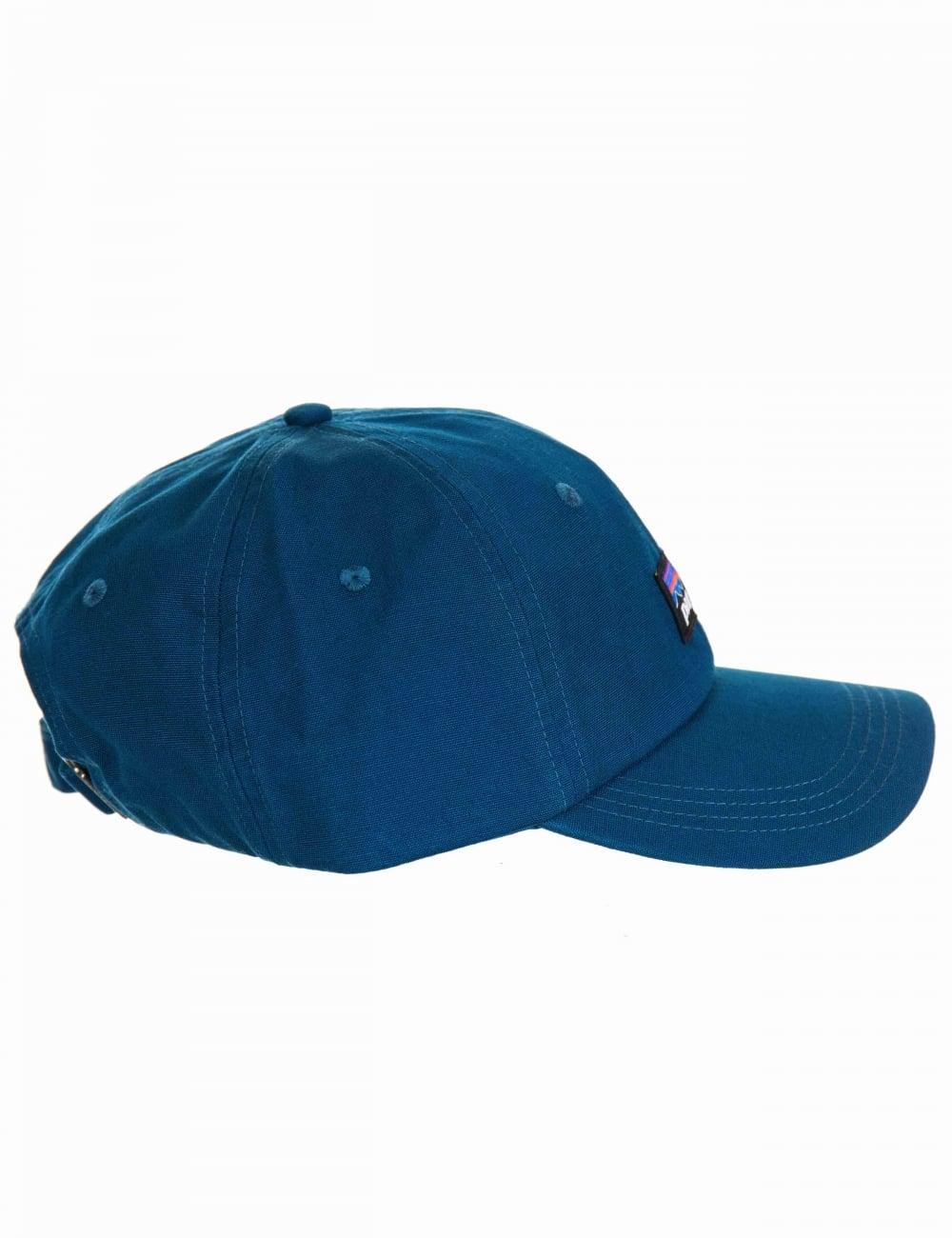 3ce5848a857 Patagonia P-6 Logo Trad Cap - Big Sur Blue - Accessories from Fat ...