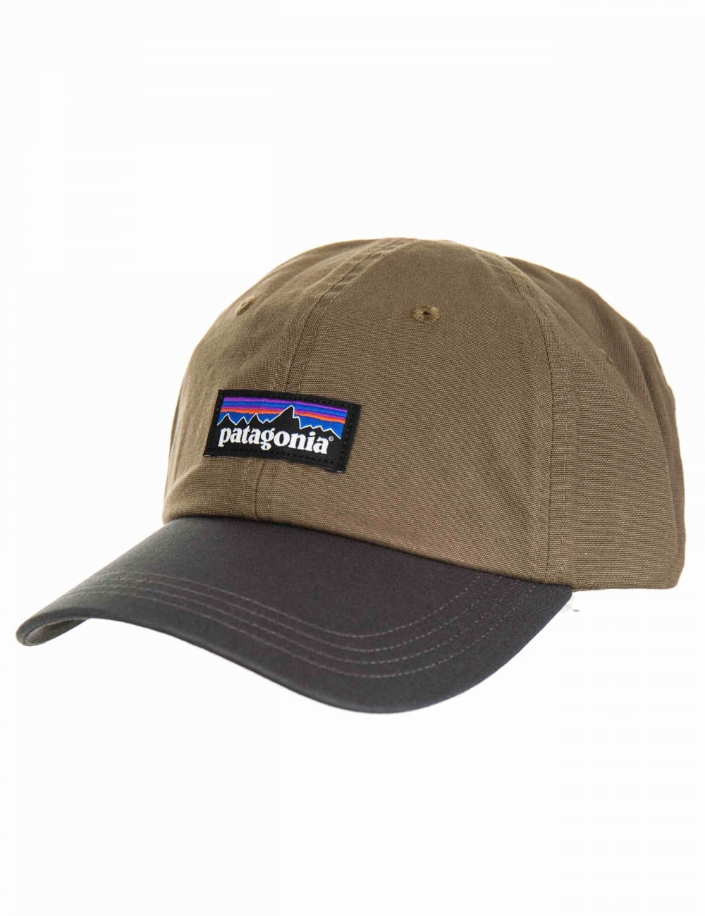 Patagonia P-6 Logo Trad Cap - Dark Ash - Accessories from Fat Buddha ... 3c772621d74