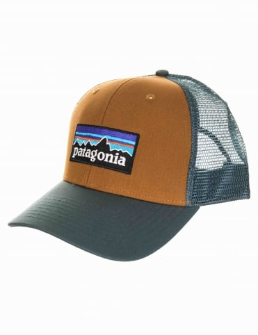 P-6 Logo Trucker Hat - Bear Brown