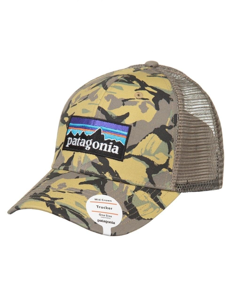 Patagonia P-6 Logo Trucker Hat - Big Camo Classic Tan - Accessories ... d032366bc2e