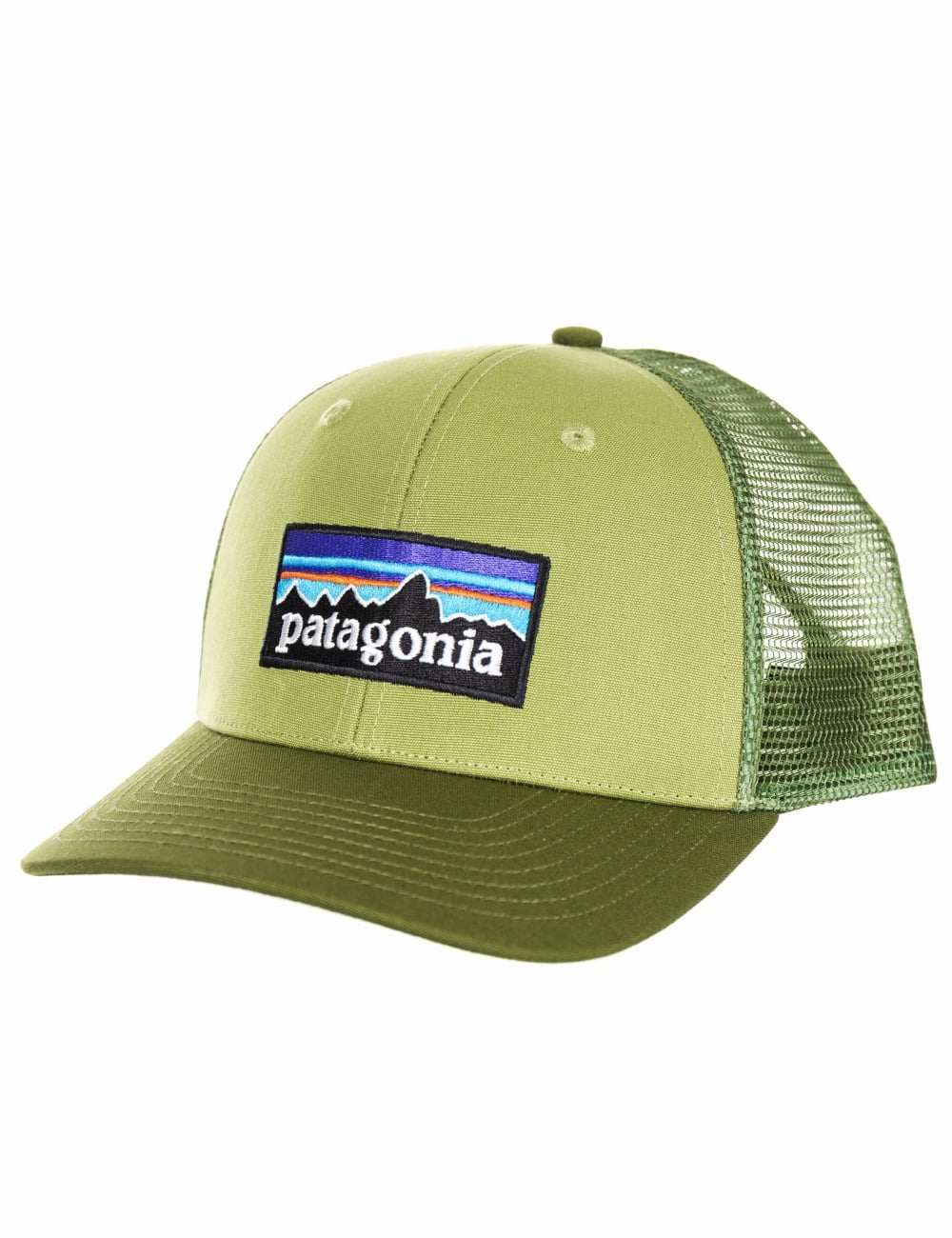 Patagonia P-6 Logo Trucker Hat - Crag Green - Hat Shop from Fat ... f8ddab62dce