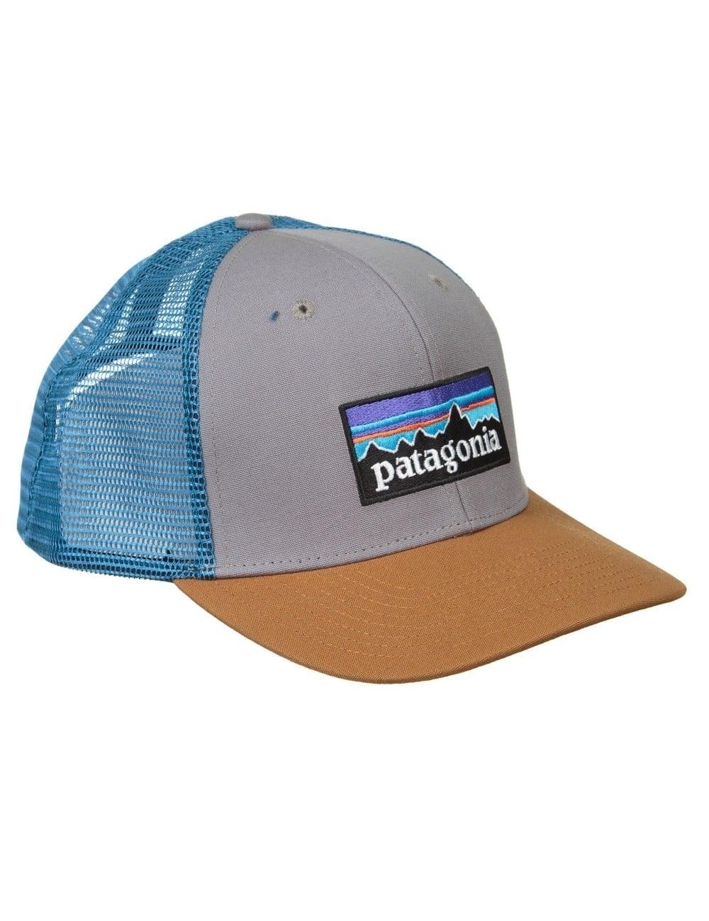 Patagonia P-6 Logo Trucker Hat - Feather Grey Bear Brown ... cae2ebf5d48