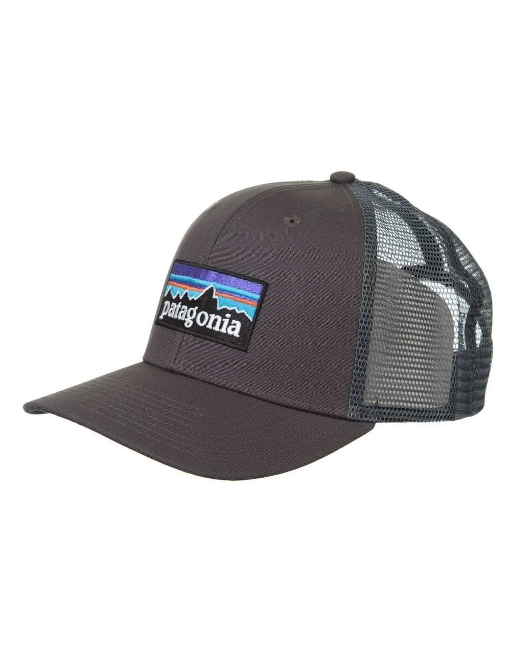 Patagonia P-6 Logo Trucker Hat - Forge Grey - Hat Shop from Fat ... eefe2372cd1f