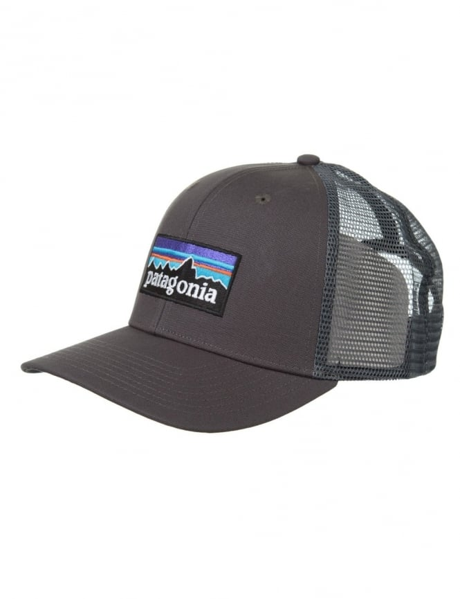 e48052d3 Patagonia P-6 Logo Trucker Hat - Forge Grey - Hat Shop from Fat ...