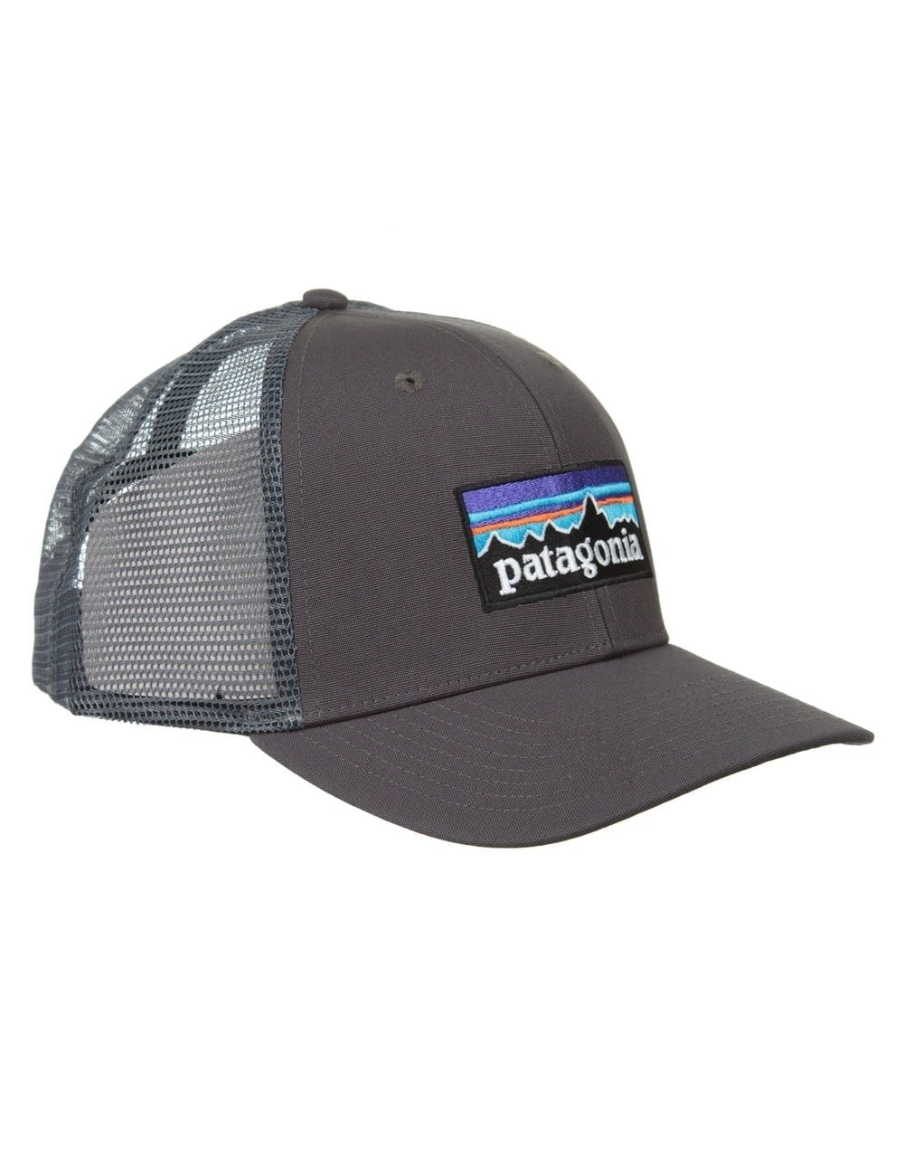 4179c17d8cd Patagonia P-6 Logo Trucker Hat - Forge Grey - Hat Shop from Fat ...