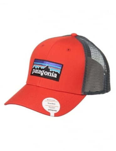 Patagonia P-6 Logo Trucker Hat - French Red