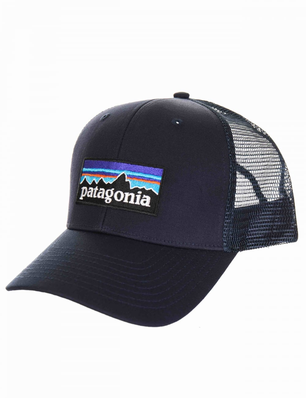 Patagonia P-6 Logo Trucker Hat - Navy Blue Navy Blue - Hat Shop from ... f4935a64d40