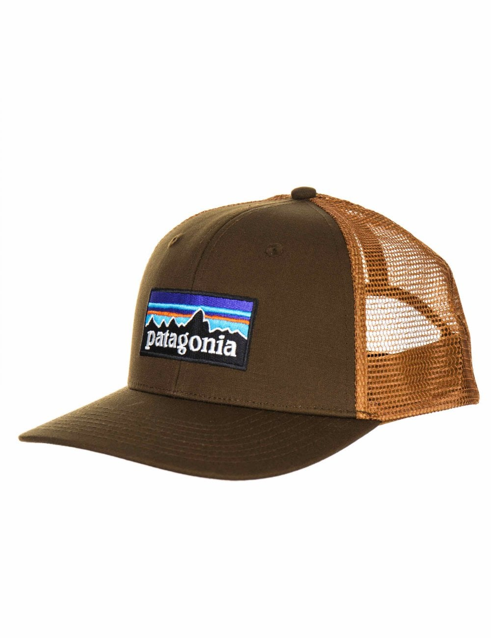 Patagonia P-6 Logo Trucker Hat - Sediment - Accessories from Fat ... 3b56f797f63b