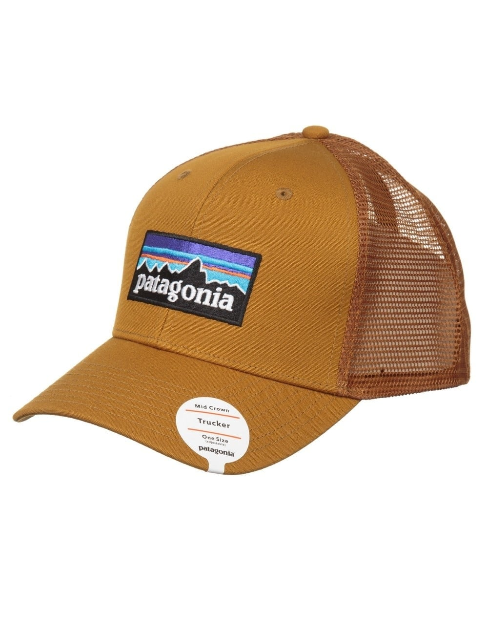 Patagonia P-6 Logo Trucker Hat - Tapenade - Accessories from Fat ... 0d7c8ee18ab