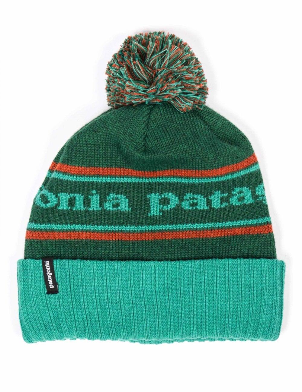 Patagonia Powder Town Beanie Hat - Park Stripe  Beryl Green ... 9e75725de44b