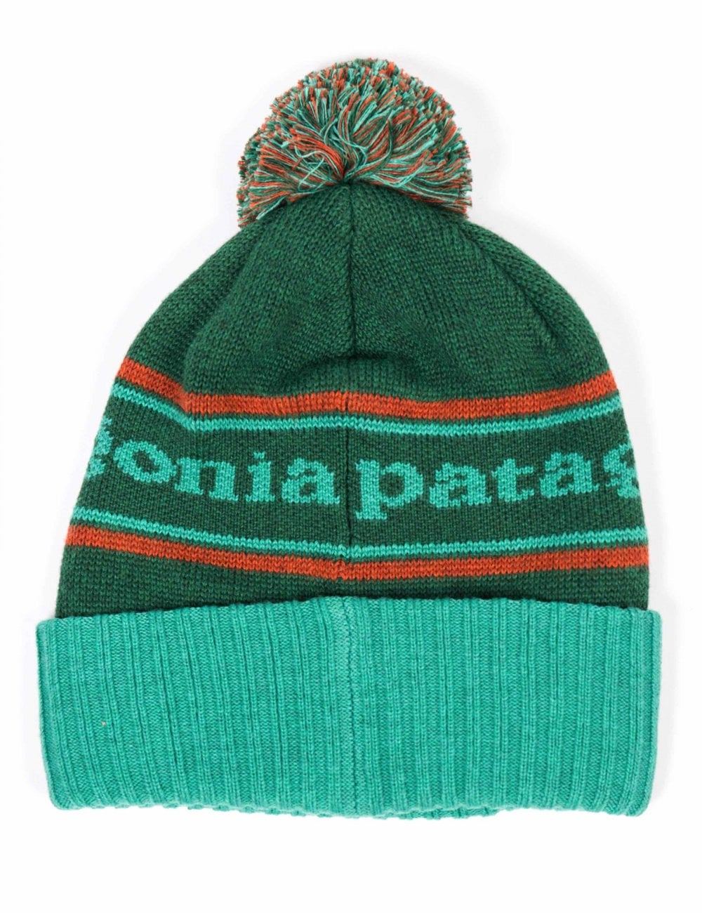 00c8796ac9e Patagonia Powder Town Beanie Hat - Park Stripe  Beryl Green ...