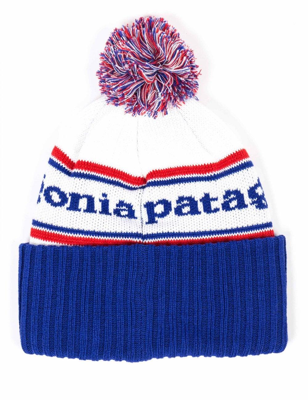 16e81d3f0b9 Patagonia Powder Town Beanie Hat - Park Stripe  Viking Blue ...