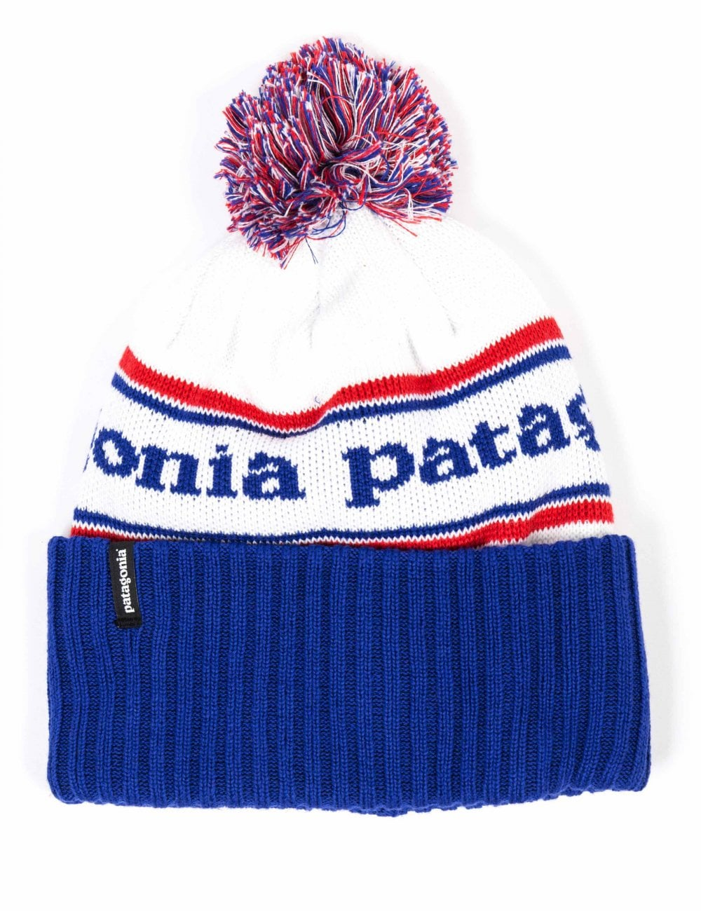 Patagonia Powder Town Beanie Hat - Park Stripe  Viking Blue ... cd321ef1b5c