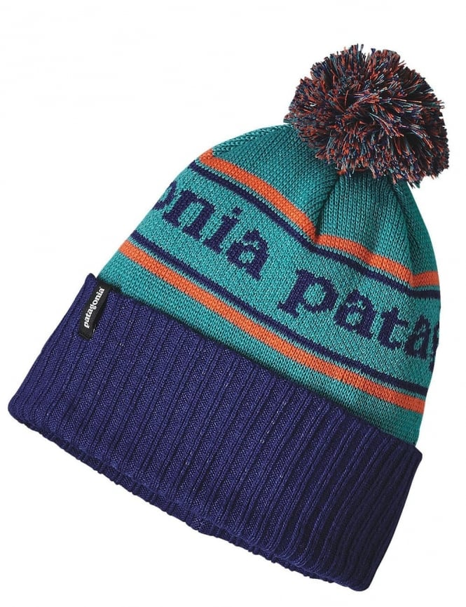 Patagonia Powder Town Beanie - Park Stripe/Harvest Moon Blue