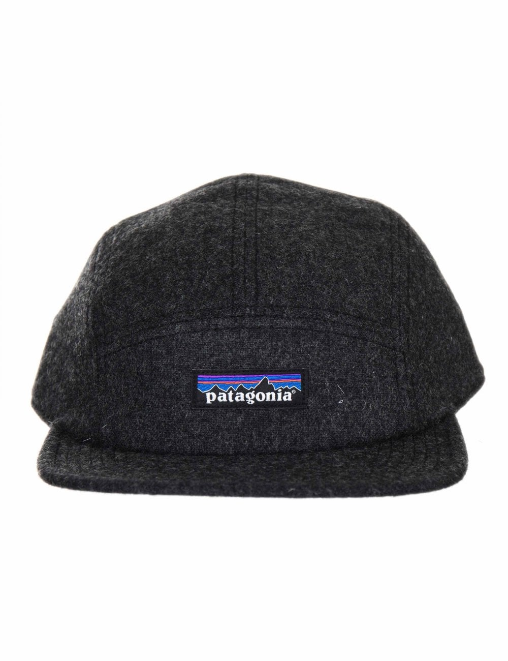 Patagonia Recycled Wool 5 Panel Cap - Forge Grey - Accessories from ... e95e05ab3ff