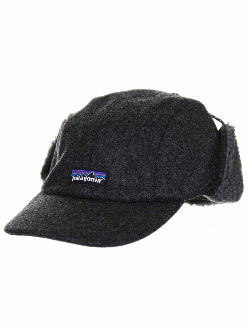 1f0ba9fa3e3 Patagonia Recycled Wool Ear Flap Cap - Forge Grey - Accessories from ...