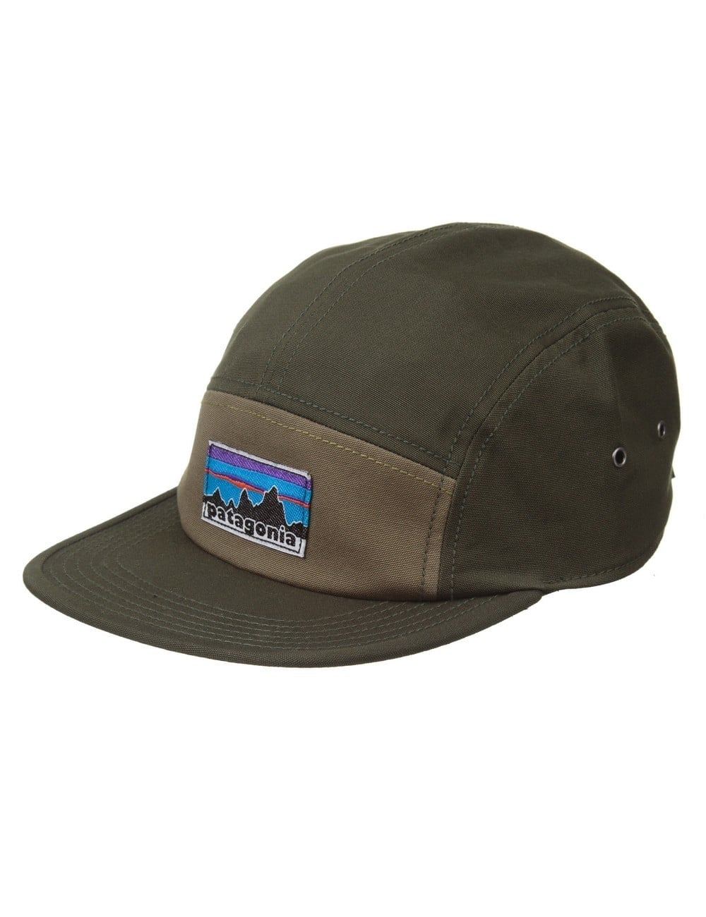 Patagonia Retro Fitz Roy Label Tradesmith Cap - Fatigue Green ... 95a8749cd6e