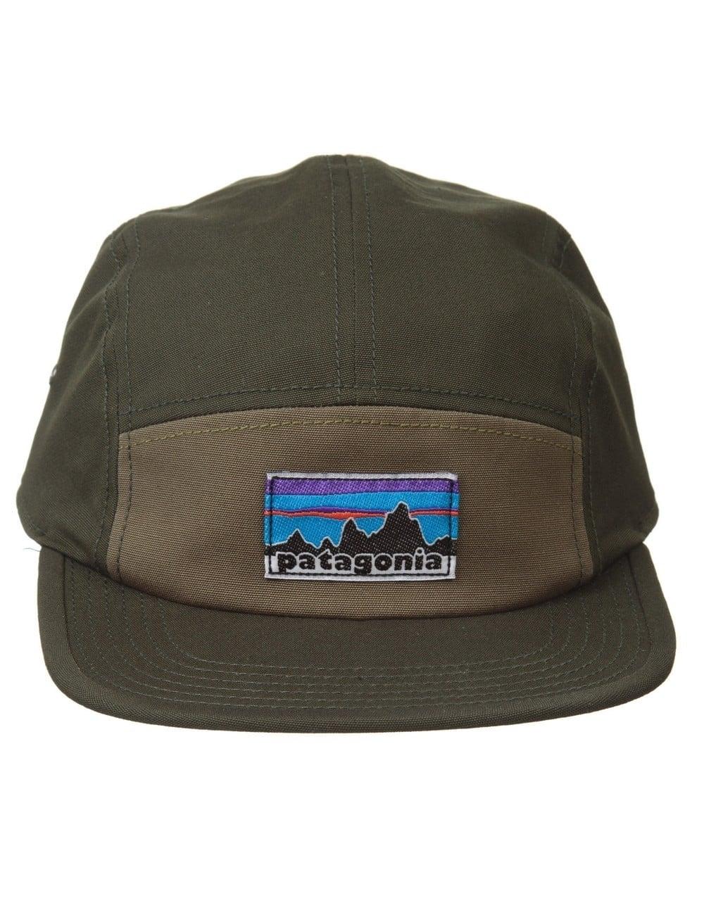Patagonia Retro Fitz Roy Label Tradesmith Cap - Fatigue Green ... 09f8c422346