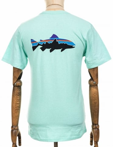 S/S Fitz Roy Trout Responsibili Tee - Bend Blue