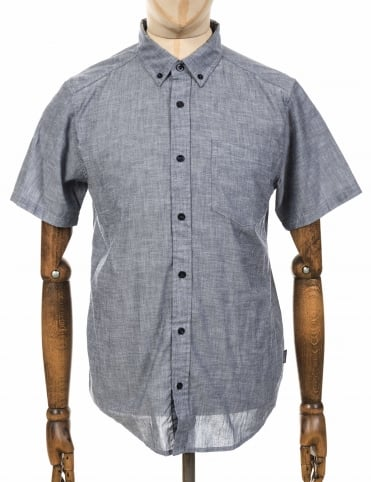 S/S Lightweight Bluffside Shirt - Chambray: Classic Navy